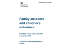 Family stressors and childrens outcomes