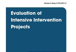 Evaluation of intensive intervention projects
