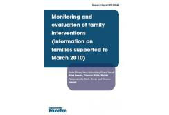 Monitoring and evaluation of family interventions information on families supported to March 2010